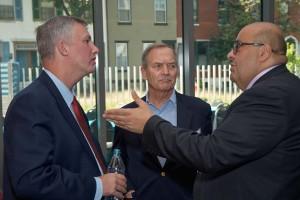 Adam Krantz, Ken Kirk, Adel Hagekhalil deep in conversation