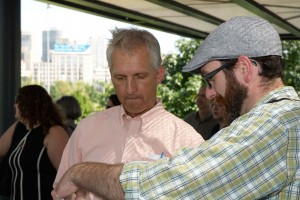 Ken Hendrickson of the US EPA visits green stormwater infrastructure in West Philadelphia