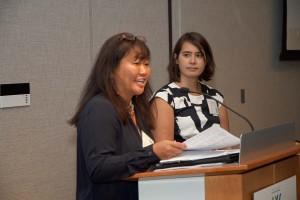 Mami Hara and Katherine Gajewski welcome everyone to the conference