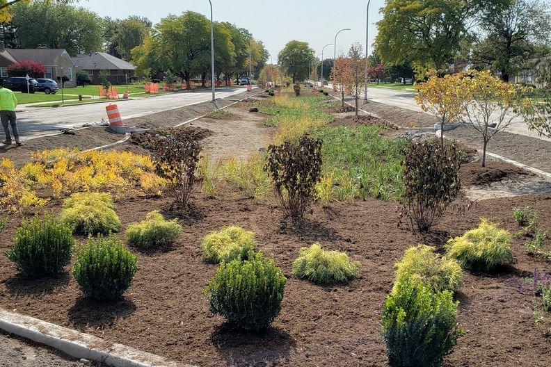 City of Detroit Has Resumed $8.6 Million Project to Gut 10 Medians and Install Stormwater Management Equipment